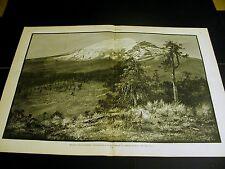 W.H. Jackson Colorado MOUNT POPOCATEPETL 1886 Large Original Antique Folio Print