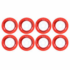 84mm red Inline Skate Wheels for fitness by Trurev. (Pack of 8)
