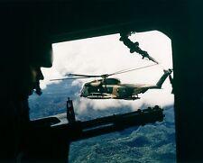 """HH-53 HELICOPTER VIETNAM WAR GUNNER 8"""" X 10"""" PHOTO PICTURE"""