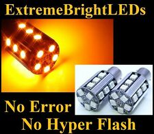 TWO AMBER No Resistor Required 1157 2357 20-SMD LED Front turn Signal Lights