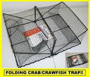 PROMAR COLLAPSIBLE CRAB/CRAWFISH TRAP Folding Trap! BRAND NEW! #TR101