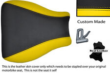 YELLOW & BLACK CUSTOM FITS SUZUKI GSXR 600 750 01-03 FRONT LEATHER SEAT COVER