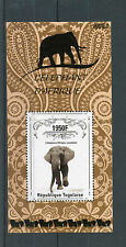 Togo 2014 MNH African Elephant 1v S/S Wild Animals Fauna Elephant d'Afrique