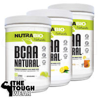 NUTRABIO BCAA NATURAL 400grams - 3 Flavors -FERMENTED BRANCHED CHAIN AMINO ACIDS