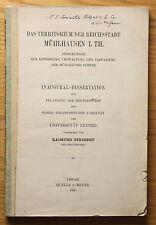 Steinert Das Territorium der Reichsstadt Mühlhausen Thüringen Geschichte 1910 xz