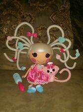 Lalaloopsy Suzette La Sweet Silly Hair Doll Curl Brush, Barretts, Dog 12 PCS EUC