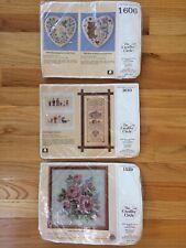 "New ""The Creative Circle� Needlepoint Kits - Vintage Lot of 3"
