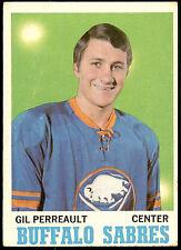 GIL GILBERT PERREAULT 1970 Topps Rookie Card RC #131 Buffalo Sabres HOF