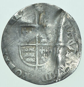 MARY, GROAT (1553-1554), mm. POMEGRANATE, BRITISH SILVER HAMMERED COIN