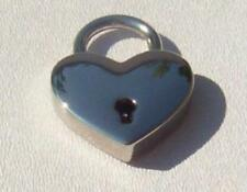 Large Heart Lock, Silver tone with 2 keys Really works