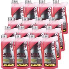 16x1 Liter MANNOL Kühlerfrostschutz Antifreeze AF 12+ Frostschutz -40°C rot rosa
