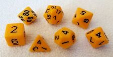7 pc Yellow Opaque dice polyhedral set D&D dnd D20 Rpg 7 piece