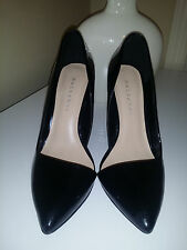 Metaphor Women's Symm Black Cutaway Pumps High Wide lHeels Shoes 42415 Sz. 6,5M