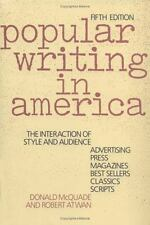 Popular Writing in America: The Interaction of Style and Audience, , Good Book