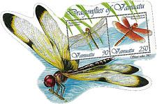 VANUATU 2012 Dragonflies Insects Fauna Miniature sheet Die-cut MNH