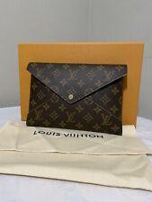 Louis Vuitton Kirigami LARGE LV Monogram Envelope Clutch Purse Pochette Insert