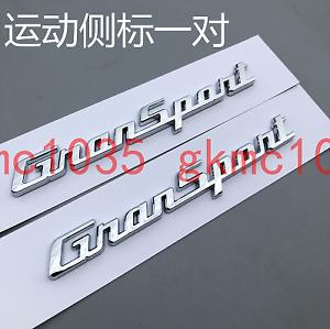 Maserati 2017 Quattroporte GranSport Side Badge Emblem Shiny Silver New (2PC)