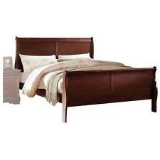 platform bed frame full size footboard headboard bedroom furniture sleigh wood - Full Size Wooden Bed Frame