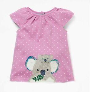 Girls Baby Boden Short Sleeve Koala Applique Dress 2-3 Years