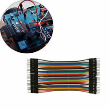 40pcs Breadboard jumper wire cable male to male for Arduino Dupont 20cm 2.54mm