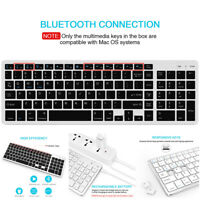 Bluetooth Keyboard Rechargeable Portable BT Wireless Keyboard with Number For PC