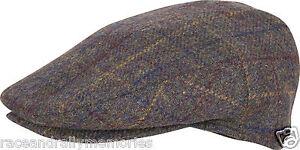 Traditionnel Pays Style Laine Mélange Tweed Tissu Unisexe Chapeau Casquette Plat