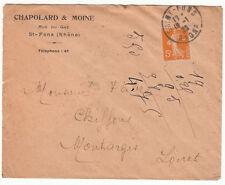 LETTRE PUBLICITAIRE CHAPOLARD ET MOINE ST FONS / MONTARGIS 1923