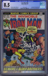 Iron Man # 55 Marvel 1973 1st Appearance of Thanos , CGC 8.5 ( VERY FINE + )