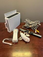 Nintendo Wii White Video Game Console (RVL-001) Bundle - Tested and Works!