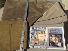 q25 4.25 yards home décor fabrics corduroy, velvet+ fabric all through the house