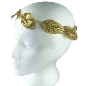 Gold Laurel Leaf Roman Trojan Egyptian Plastic Costume Headband