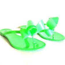 F-84148 Nuovo Valentino Verde Neon Jelly Sandali con Fiocco Misura 36 USA 6