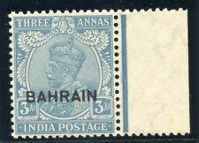 Bahrain 1933 KGV 3a blue superb MNH. SG 7. Sc 7.