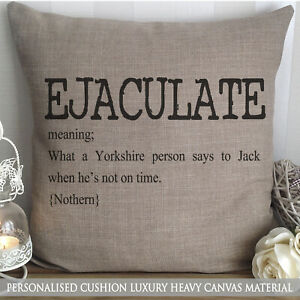 PERSONALISED YORKSHIRE GEORDIE NOUN CUSHION NEWCASTLE CHRISTMAS GIFT FUNNY NORTH