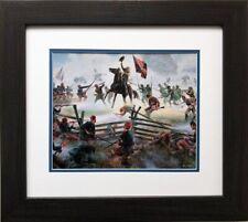 """Mort Kunstler """"The Grandest Charge Ever Seen """" FRAMED Civil War Art Confederate"""