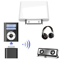 30Pin Bluetooth Transmitter Wireless Stereo HiFi Audio Dongle Adapter for iPod