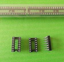 """IC Socket 14 Way 0.3"""" Turned 17314-01-445 Narrow 7.62mm Width 14W x 5pcs"""