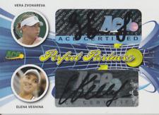 Vera Zvonareva & Elena Vesnina 2013 Ace dual autograph auto card PP-58