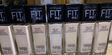 X7 Maybelline Fit Me 2pack Dewy Smooth Foundation spf18 Ivory #115 NEW