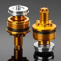 2Pcs Aluminum CNC Preload Fork Cap Bolts Gold Color for Yamaha YZF R3 YZF R25