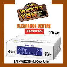 Sangean DAB+ FM Bedside Digital Radio /Alarm DCR-89 + AUST SANGEAN WARRANTY