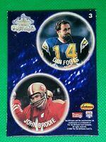 1994 TWCC Pogs #3 Dan Fouts HOF San Diego Chargers w. John Brodie SF 49ers