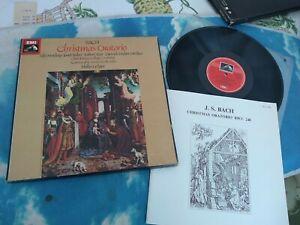 SLS 5098 Bach Christmas Oratorio Ameling Baker Dieskau Ledger  3LP BOX SET