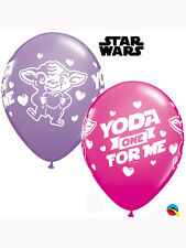 "25 x 11"" Valentine's Day Star Wars Yoda Latex Balloons Ideal Party Decoration"