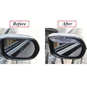 2x Auto Car Rear View Side Mirror Rain Board Eyebrow Guard Sun Visor Accessories