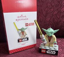 Hallmark Keepsake Ornament LEGO Star Wars Yoda 2013 QXI2245