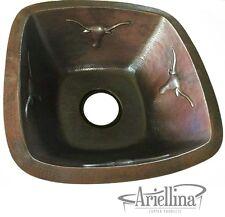 Ariellina Texas Longhorns Handmade Bar Prep Copper Sink Life Warranty AC3015