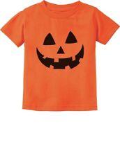 Jack O' Lantern Pumpkin Face Halloween Costume Orange Boy Girl Kids T-Shirt 2T