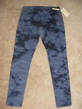 New $130 MICHAEL KORS skinny leg overdyed real navy & gray blue jeans 4 tie dye