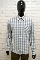 Camicia LEVIS Uomo Taglia Size L Maglia Chemise Shirt Quadretti Cotone Classic